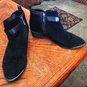 Sam Edelman Circus Black Leather Booties, Sz 9